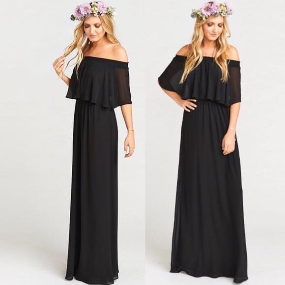 1f6a8524badae7 Show Me Your MuMu Dresses | Nwt Smym Black Hacienda Maxi Dress ...